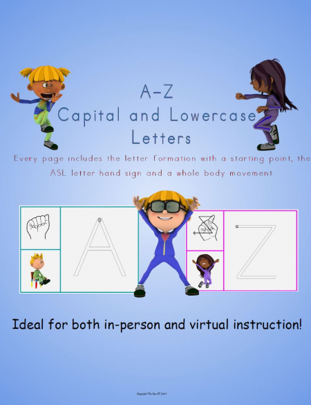 This Alphabet Brain Break includes everything you need to practice letter formation, fine motor skills and gross motor skills!