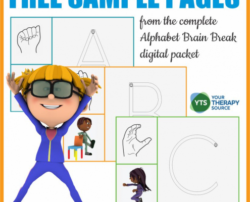 This ABC Exercise Workout freebie includes movement and learning activities to help students remember letters and practice motor skills!