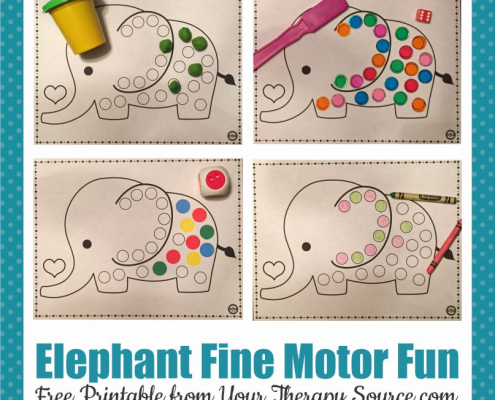 This elephant activity for preschoolers will provide a FUN fine motor game for your students! Fun Elephant facts for kids too!