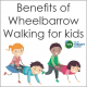 There are many benefits to wheelbarrow walking and it is a great overall body exercise that targets the core muscles.