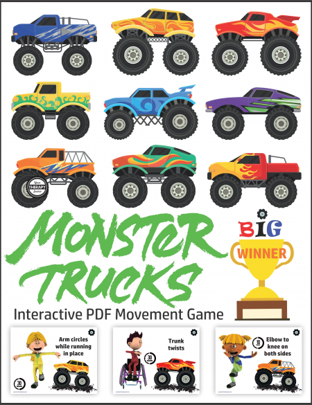 Looking for a fun movement and memory Monster Truck Game for kids?Get your students physically active and having fun!