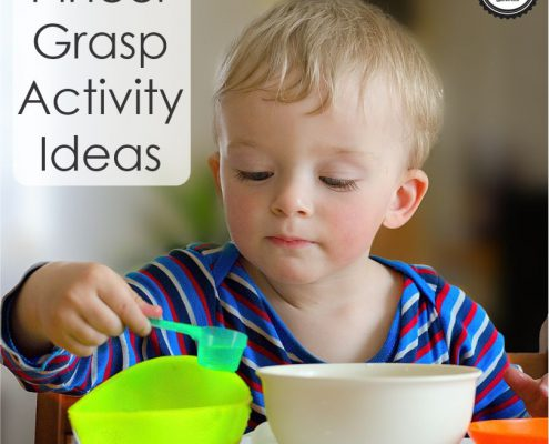 Children need lots and lots of opportunities to practice pincer grasp activities in order to develop this skill and use it everyday!