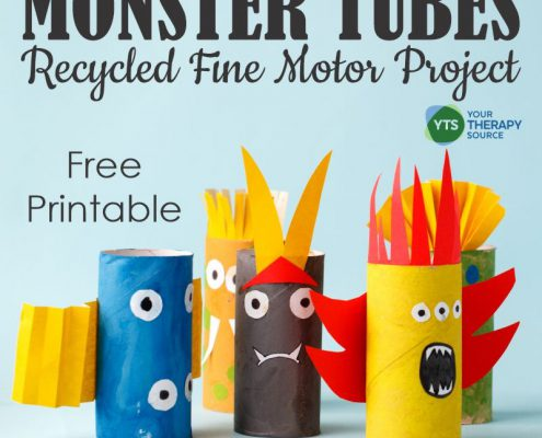 Do you want to learn how to make toilet paper roll monsters? Recycled craft projects are a great way to practice fine motor skills.