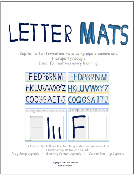 This digital packet, Letter Mats for Multisensory Learning, will provide a hands-on approach that is perfect for kinesthetic learners.