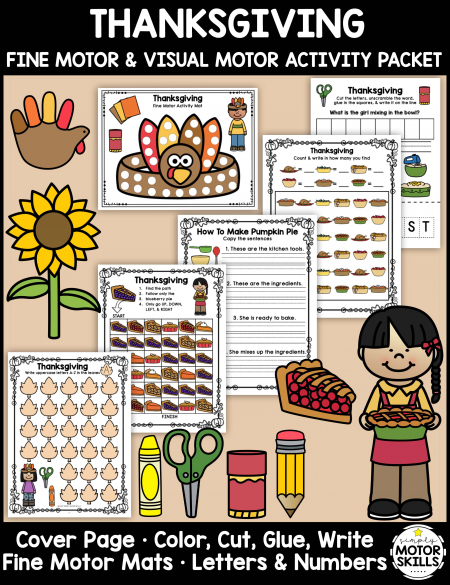 This Thanksgiving Fine Motor Activity Packet will jump-start your planning for the month of November! Download your copy today.